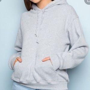 🌟BRANDY MELVILLE Oversized Grey Hoodie Sweatshirt